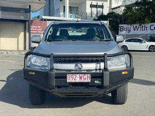 2014 Holden Colorado RG MY14 LX Crew Cab Silver 6 Speed Manual Cab Chassis.