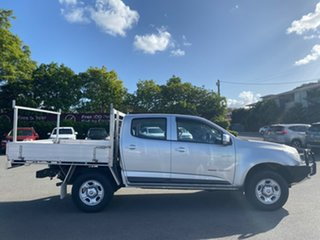 2014 Holden Colorado RG MY14 LX Crew Cab Silver 6 Speed Manual Cab Chassis