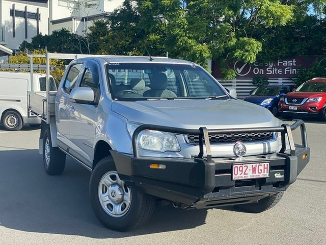 Used Holden Colorado RG MY14 LX Crew Cab, 2014 Holden Colorado RG MY14 LX Crew Cab Silver 6 Speed Manual Cab Chassis