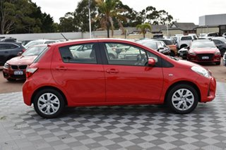 2017 Toyota Yaris NCP130R Ascent Red/Black 4 Speed Automatic Hatchback