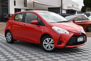 2017 Toyota Yaris NCP130R Ascent Red/Black 4 Speed Automatic Hatchback.