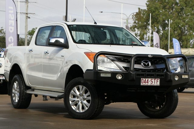 Used Mazda BT-50 UP0YF1 XTR 4x2 Hi-Rider, 2012 Mazda BT-50 UP0YF1 XTR 4x2 Hi-Rider Cool White 6 Speed Manual Utility