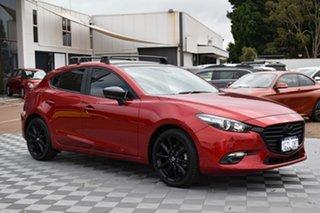 2018 Mazda 3 BN5436 SP25 SKYACTIV-MT Red/Black 6 Speed Manual Hatchback.