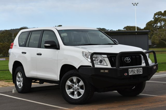 Used Toyota Landcruiser Prado KDJ150R GX, 2011 Toyota Landcruiser Prado KDJ150R GX White 5 Speed Sports Automatic Wagon