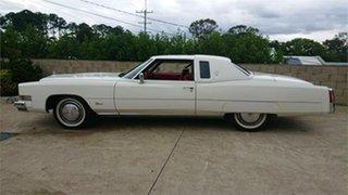 1974 Cadillac Eldorado White 3 Speed Automatic Coupe.
