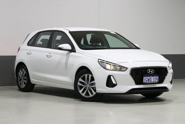 Used Hyundai i30 PD2 MY19 Active, 2019 Hyundai i30 PD2 MY19 Active White 6 Speed Automatic Hatchback