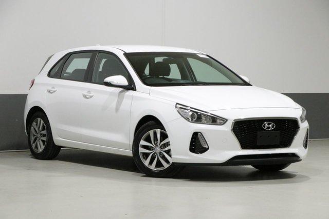 Used Hyundai i30 PD2 MY19 Active, 2018 Hyundai i30 PD2 MY19 Active White 6 Speed Automatic Hatchback