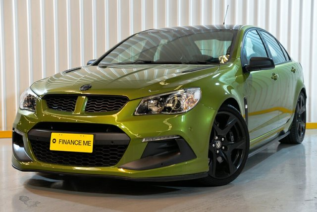 Used Holden Special Vehicles ClubSport Gen-F2 MY16 R8 SV Black, 2016 Holden Special Vehicles ClubSport Gen-F2 MY16 R8 SV Black Green 6 Speed Sports Automatic Sedan