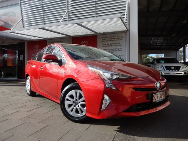 Used Toyota Prius ZVW50R Hybrid, 2017 Toyota Prius ZVW50R Hybrid Emotional Red Continuous Variable Hatchback