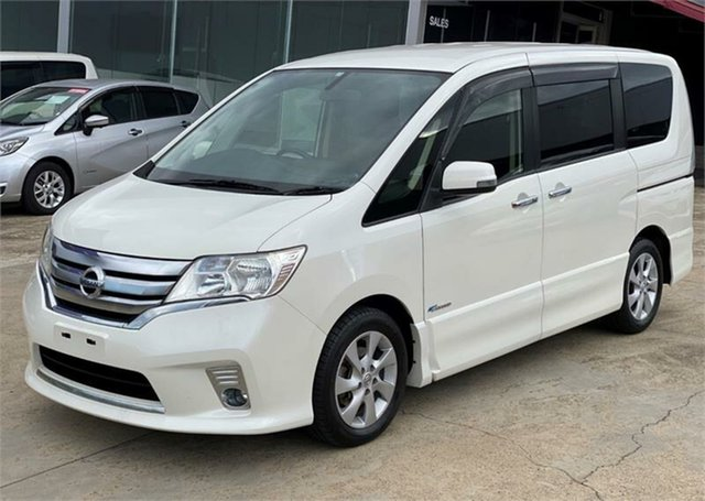 Used Nissan Serena Highway Star Silverwater, 2013 Nissan Serena Highway Star HIBRID White Automatic Wagon