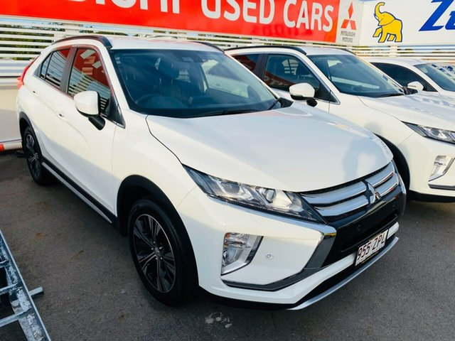 Used Mitsubishi Eclipse Cross YA MY18 LS 2WD, 2018 Mitsubishi Eclipse Cross YA MY18 LS 2WD Clear White 8 Speed Constant Variable Wagon