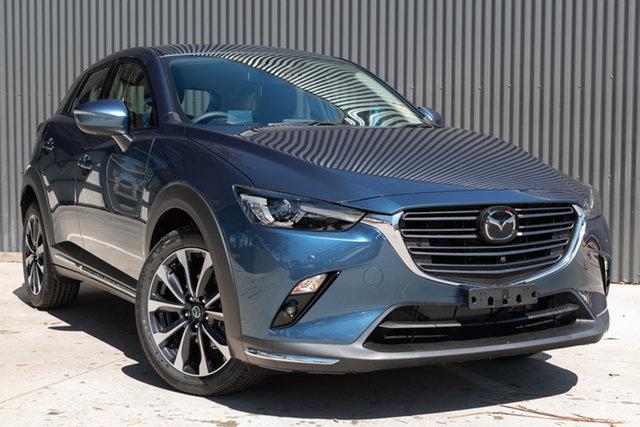 Demo Mazda CX-3 DK2W7A Akari SKYACTIV-Drive FWD, 2019 Mazda CX-3 DK2W7A Akari SKYACTIV-Drive FWD Eternal Blue 6 Speed Sports Automatic Wagon