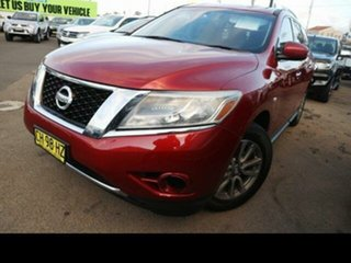2013 Nissan Pathfinder R52 ST (4x4) Burgundy Continuous Variable Wagon.
