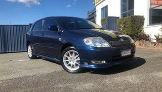 2003 Toyota Corolla ZZE123R Sportivo Blue 6 Speed Manual Hatchback.