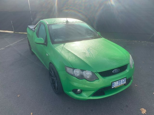 Used Ford Falcon FG XR6 Ute Super Cab, 2010 Ford Falcon FG XR6 Ute Super Cab Green 6 Speed Manual Utility