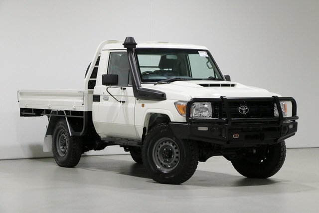 Used Toyota Landcruiser VDJ79R MY18 Workmate (4x4), 2019 Toyota Landcruiser VDJ79R MY18 Workmate (4x4) White 5 Speed Manual Cab Chassis