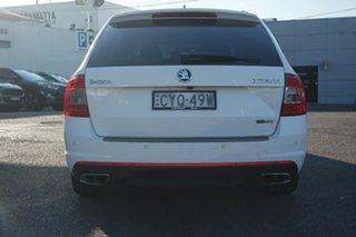 2015 Skoda Octavia NE MY16 RS Sedan DSG 162TSI White 6 Speed Sports Automatic Dual Clutch Liftback