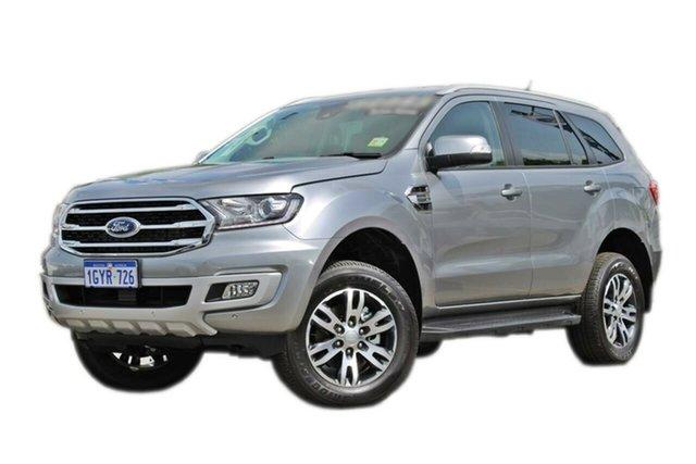 Demo Ford Everest UA II 2019.75MY Trend 4WD, 2019 Ford Everest UA II 2019.75MY Trend 4WD Silver 10 Speed Sports Automatic Wagon