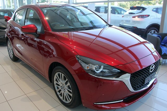 New Mazda 2 DJ2HAA G15 SKYACTIV-Drive Evolve, 2020 Mazda 2 DJ2HAA G15 SKYACTIV-Drive Evolve Soul Red Crystal 6 Speed Sports Automatic Hatchback