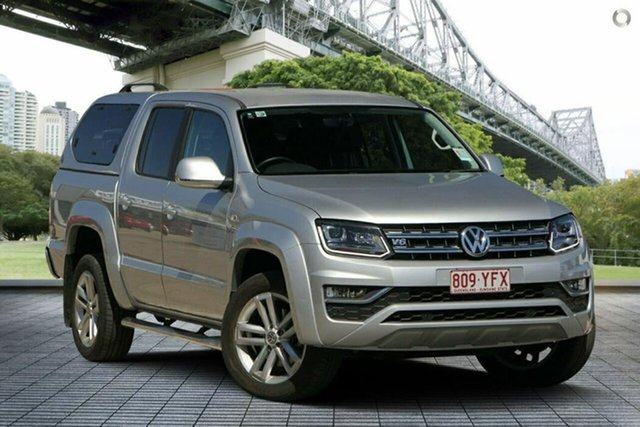 Used Volkswagen Amarok 2H MY18 TDI550 4MOTION Perm Highline, 2018 Volkswagen Amarok 2H MY18 TDI550 4MOTION Perm Highline Silver 8 Speed Automatic Utility