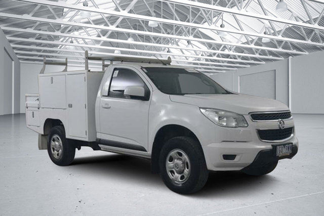 Used Holden Colorado RG MY15 LS (4x4), 2015 Holden Colorado RG MY15 LS (4x4) White 6 Speed Automatic Cab Chassis