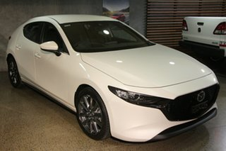 2020 Mazda 3 BP2H7A G20 SKYACTIV-Drive Evolve Snowflake White 6 Speed Sports Automatic Hatchback