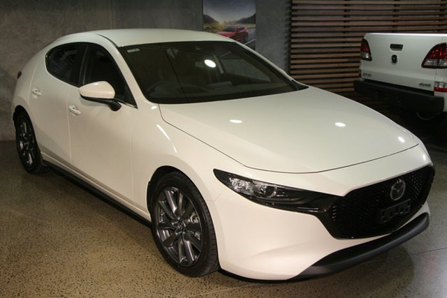 New Mazda 3 BP2H7A G20 SKYACTIV-Drive Evolve Hillcrest, 2020 Mazda 3 BP2H7A G20 SKYACTIV-Drive Evolve Snowflake White 6 Speed Sports Automatic Hatchback