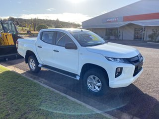 2019 Mitsubishi Triton MR MY20 GLX Plus (4x4) White 6 Speed Automatic Double Cab Pickup.