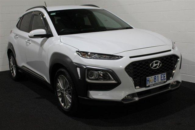 Used Hyundai Kona OS MY18 Elite 2WD, 2018 Hyundai Kona OS MY18 Elite 2WD Chalk White 6 Speed Sports Automatic Wagon