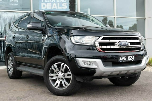Used Ford Everest UA Trend 4WD, 2017 Ford Everest UA Trend 4WD Jet Black 6 Speed Sports Automatic Wagon