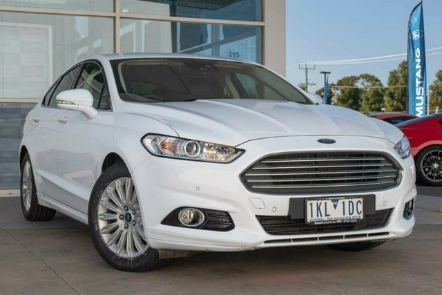 Used Ford Mondeo MD 2017.00MY Trend SelectShift, 2017 Ford Mondeo MD 2017.00MY Trend SelectShift Arctic White 6 Speed Sports Automatic Hatchback