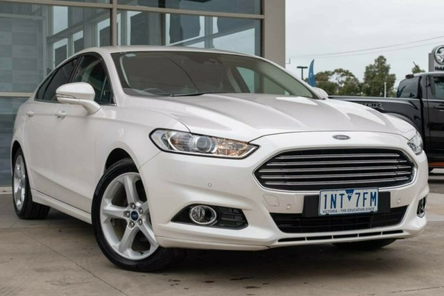 Used Ford Mondeo MD 2018.25MY Trend PwrShift, 2018 Ford Mondeo MD 2018.25MY Trend PwrShift White 6 Speed Sports Automatic Dual Clutch Hatchback