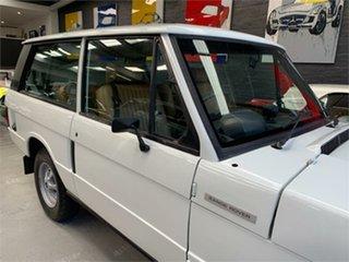 1979 Land Rover Range Rover White 4 Speed Manual Wagon