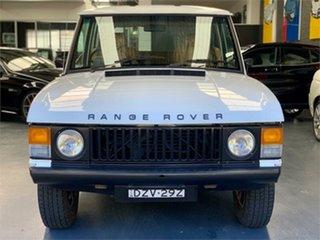1979 Land Rover Range Rover White 4 Speed Manual Wagon.