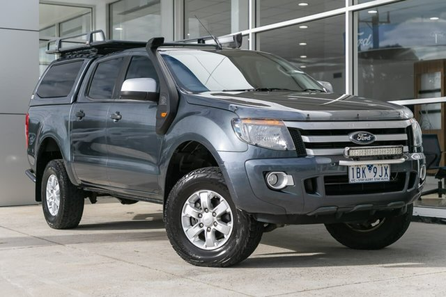 Used Ford Ranger PX XLS Double Cab, 2014 Ford Ranger PX XLS Double Cab Grey 6 Speed Manual Utility