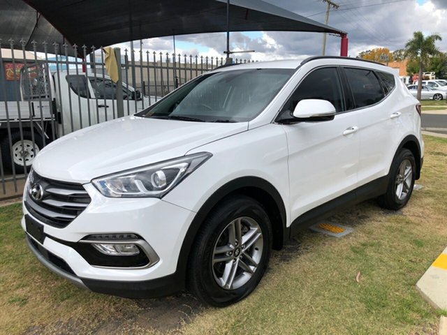Used Hyundai Santa Fe DM5 MY18 Active CRDi (4x4) Toowoomba, 2017 Hyundai Santa Fe DM5 MY18 Active CRDi (4x4) White 6 Speed Automatic Wagon