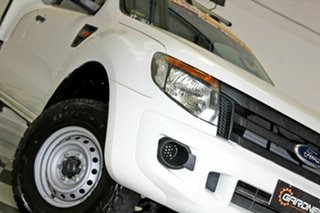 2012 Ford Ranger PX XL 2.2 Hi-Rider (4x2) White 6 Speed Automatic Super Cab Chassis.