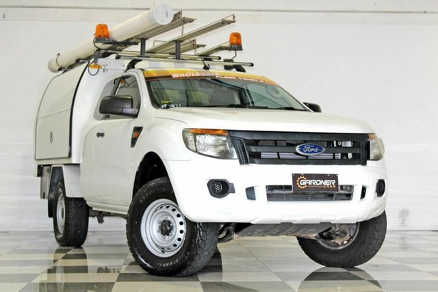Used Ford Ranger PX XL 2.2 Hi-Rider (4x2), 2012 Ford Ranger PX XL 2.2 Hi-Rider (4x2) White 6 Speed Automatic Super Cab Chassis