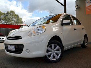 2011 Nissan Micra K13 ST White 4 Speed Automatic Hatchback