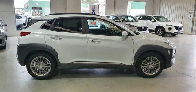 Demo Hyundai Kona OS.3 MY20 Elite 2WD, 2019 Hyundai Kona OS.3 MY20 Elite 2WD Chalk White 6 Speed Sports Automatic Wagon