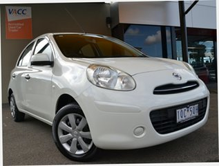 2011 Nissan Micra K13 ST White 4 Speed Automatic Hatchback.