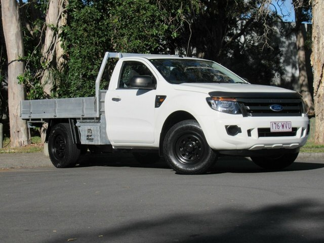 Used Ford Ranger PX XL 4x2 Hi-Rider, 2011 Ford Ranger PX XL 4x2 Hi-Rider White 6 Speed Manual Cab Chassis
