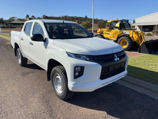 2018 Mitsubishi Triton MR MY19 GLX (4x4) White 6 Speed Manual Double Cab Pickup.