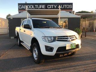 2012 Mitsubishi Triton MN MY12 GLX White 4 Speed Automatic Double Cab Utility.