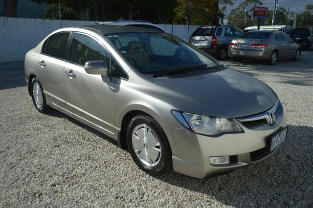 Used Honda Civic 8th Gen MY07 Hybrid, 2006 Honda Civic 8th Gen MY07 Hybrid Gold 1 Speed Constant Variable Sedan Hybrid