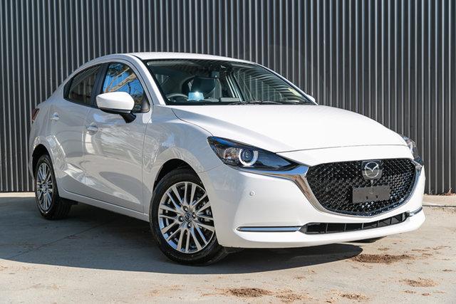 New Mazda 2 DL2SAA G15 SKYACTIV-Drive GT, 2020 Mazda 2 DL2SAA G15 SKYACTIV-Drive GT Snowflake White Pearl 6 Speed Sports Automatic Sedan