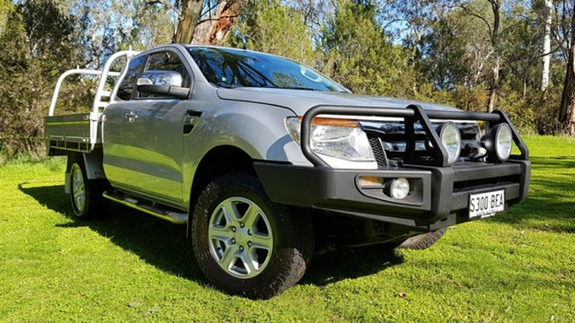 Used Ford Ranger PX XLT Super Cab, 2014 Ford Ranger PX XLT Super Cab Silver 6 Speed Manual Utility