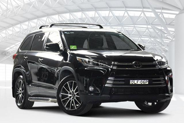 Used Toyota Kluger GSU55R Grande (4x4), 2017 Toyota Kluger GSU55R Grande (4x4) Eclipse Black 6 Speed Automatic Wagon