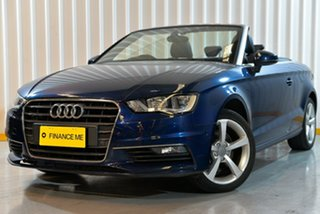 2015 Audi A3 8V MY15 Ambition S Tronic Quattro Blue 6 Speed Sports Automatic Dual Clutch Cabriolet.