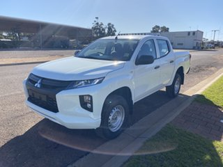 2018 Mitsubishi Triton MR MY19 GLX (4x4) White 6 Speed Manual Double Cab Pickup